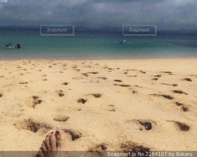 砂浜🌴☀️の写真・画像素材[2264107]