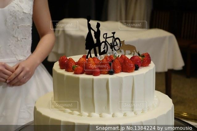 自転車ウエディングケーキの写真・画像素材[1384224]