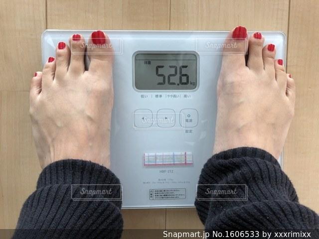 体重測定の写真・画像素材[1606533]