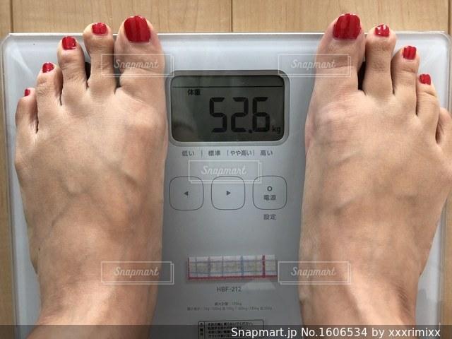 体重測定の写真・画像素材[1606534]