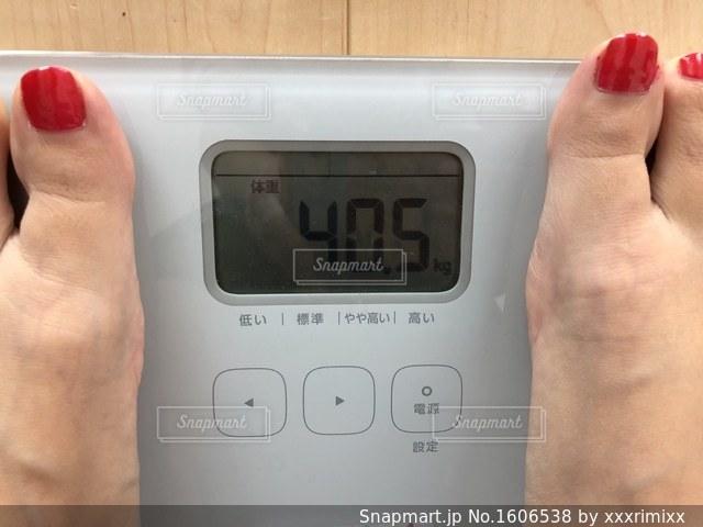 体重測定の写真・画像素材[1606538]