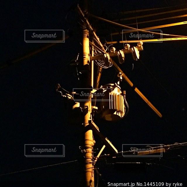 電柱と電線の写真・画像素材[1445109]