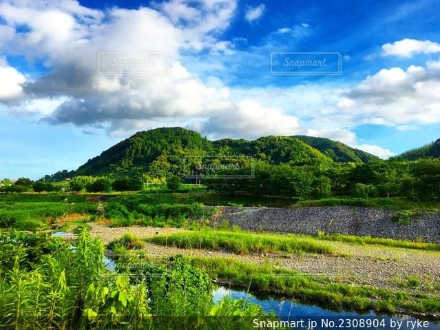 山と川と空の写真・画像素材[2308904]