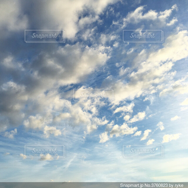 青空と雲の写真・画像素材[3760823]