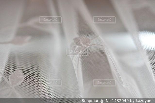 レースのカーテンの写真・画像素材[1432040]