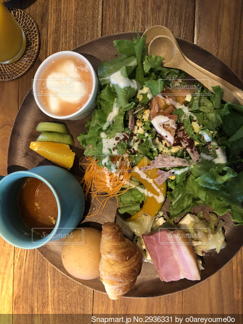 洋風朝食の写真・画像素材[2936331]