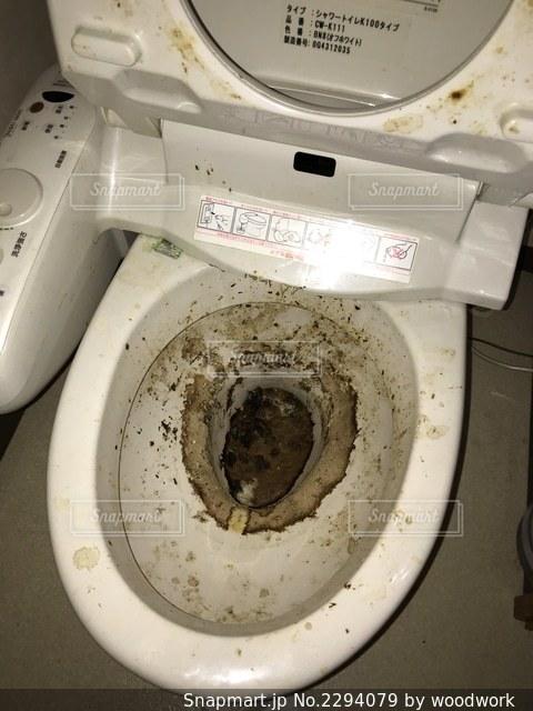汚いトイレ ビフォーの写真・画像素材[2294079]