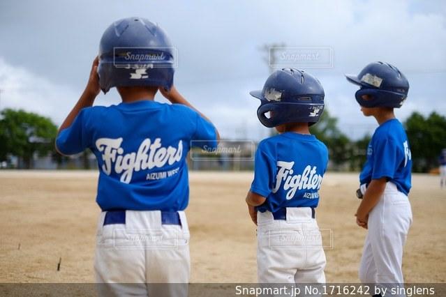 少年野球の練習風景の写真・画像素材[1716242]
