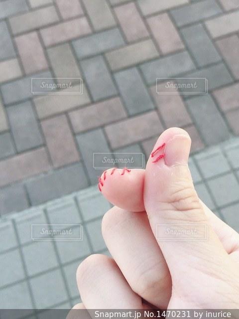 ボディステッチ(指)の写真・画像素材[1470231]