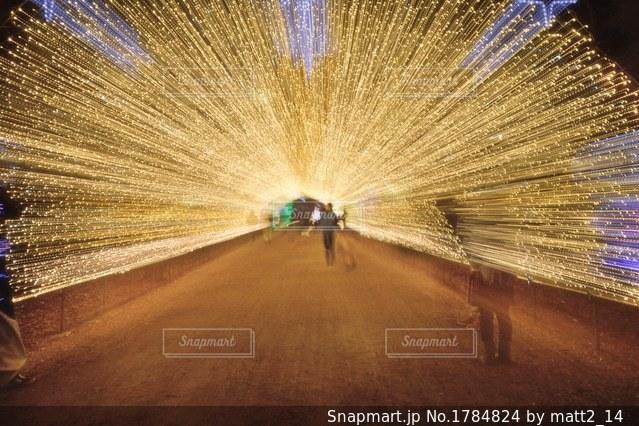 光のトンネルの写真・画像素材[1784824]