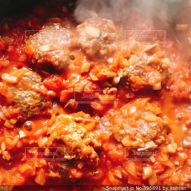 料理,赤色,トマトソース,ミートボール