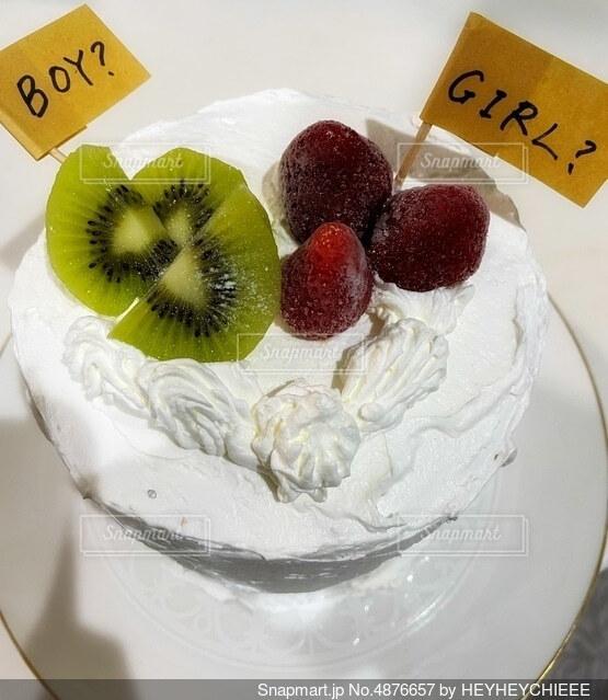 ジェンダーリビールケーキの写真・画像素材[4876657]