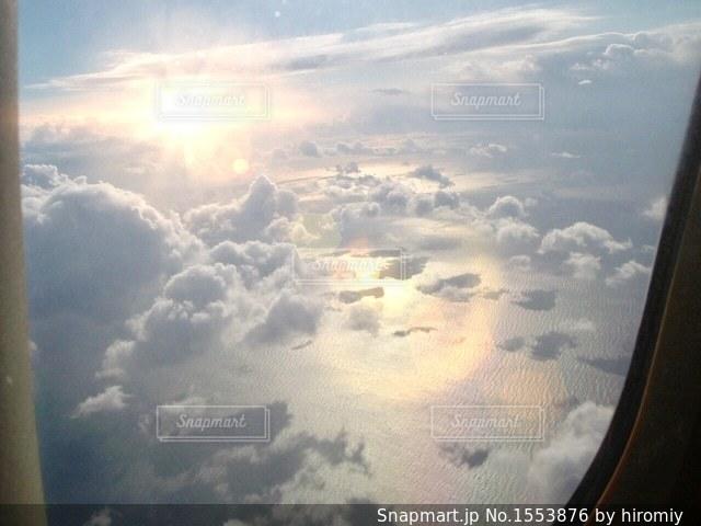 飛行機からの景色の写真・画像素材[1553876]
