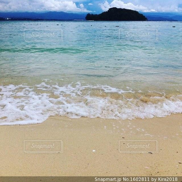 砂浜のビーチの写真・画像素材[1602811]