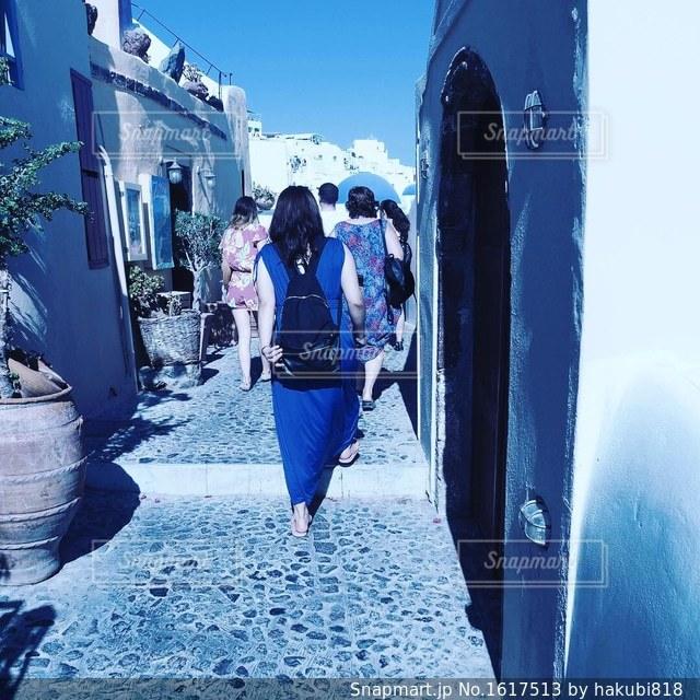 青い街の写真・画像素材[1617513]