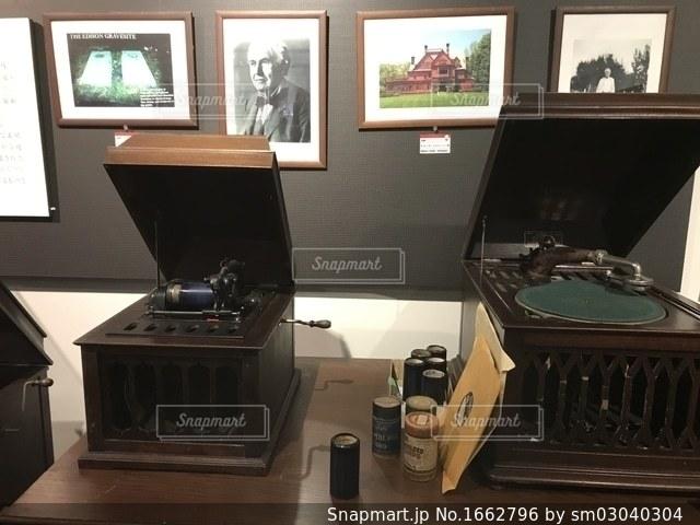 昔のレコードプレーヤーの写真・画像素材[1662796]