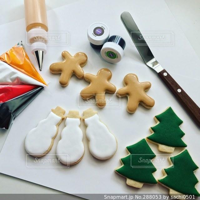 クリスマスアイシングクッキーの写真・画像素材[288053]
