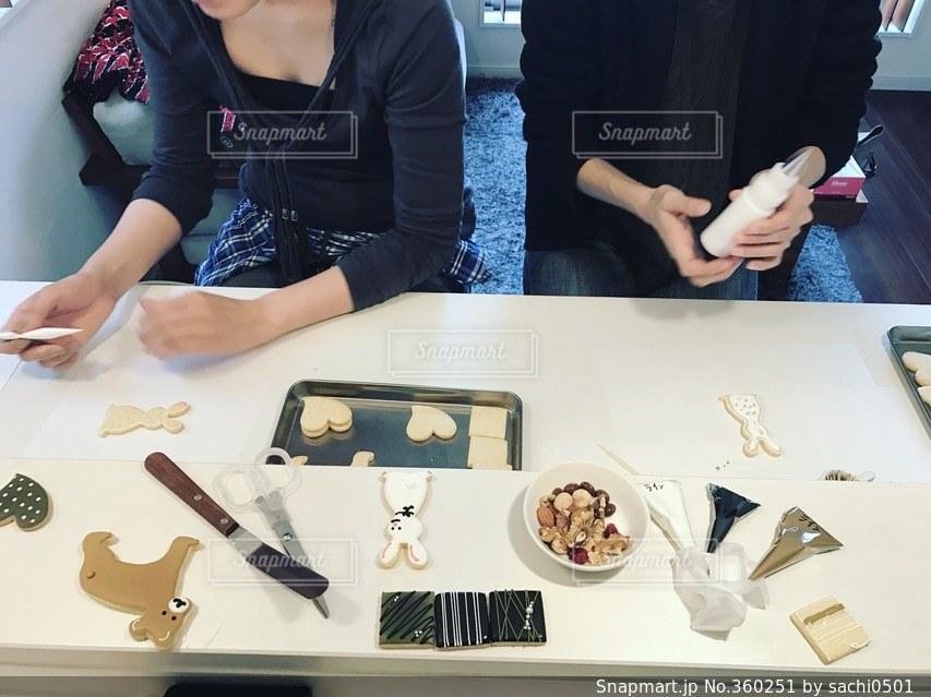 女性,教室,手作り,アイシングクッキー,女の人,レッスン