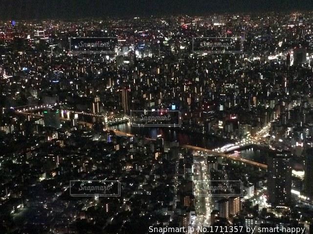 東京タワーから夜景の写真・画像素材[1711357]