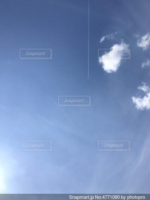 曇りの日に空を飛んでいる人の写真・画像素材[4771090]