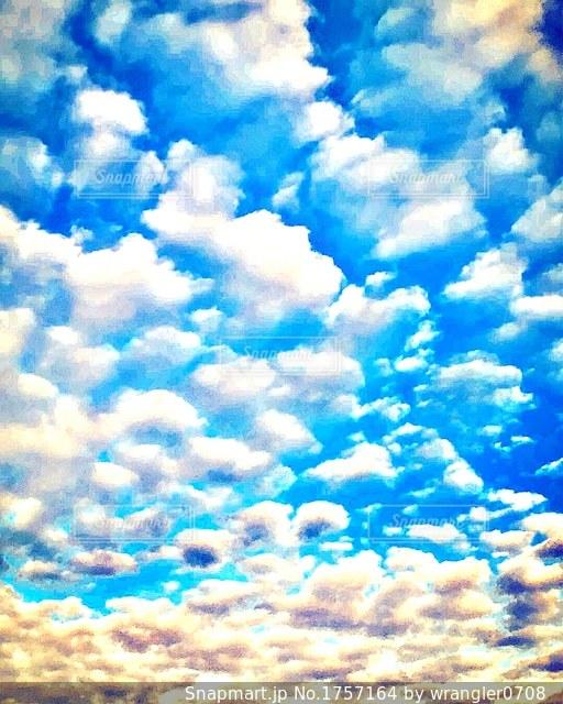 夏の空の写真・画像素材[1757164]