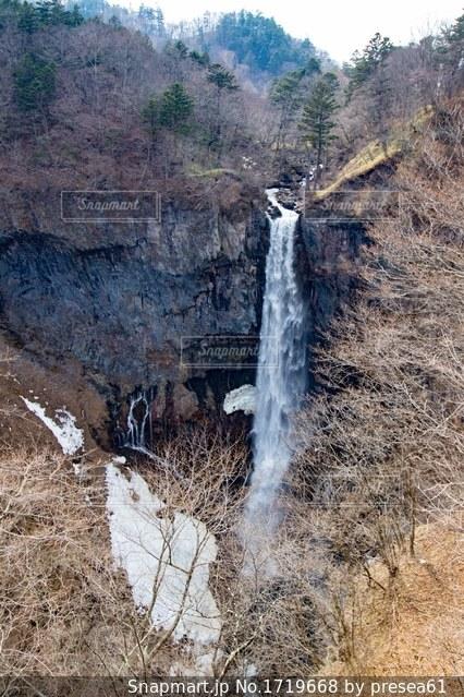 華厳の滝。心霊写真は撮れませんでした。の写真・画像素材[1719668]