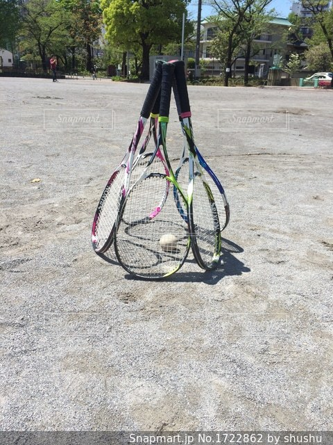 テニスラケットの写真・画像素材[1722862]