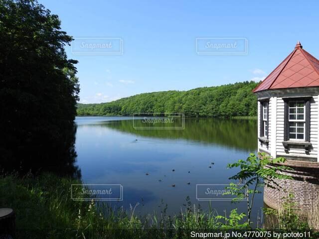 綺麗な湖畔の写真・画像素材[4770075]