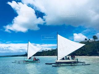 風景,海,空,海外,船,景色,旅行