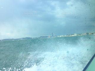 自然,風景,海,舟,水,波,水滴,ガラス,水上,北九州,関門海峡,関門連絡船,関門汽船,下関行き