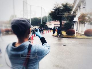 手,女,男,走る,人物,人,学校,ジョギング,マラソン,カメラマン,応援,学校行事,校内マラソン大会