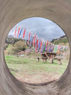 トンネルの中で、リラックスの写真・画像素材[2075022]