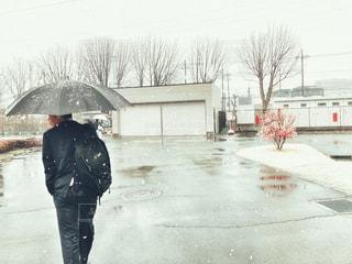 春なのに雪が・・・。の写真・画像素材[2180878]