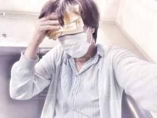 マスクをつけて・・・の写真・画像素材[2653839]
