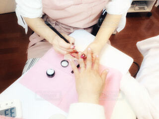 桜ネイルの写真・画像素材[4324681]