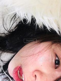 すっぴんの顔アップの写真・画像素材[1743338]