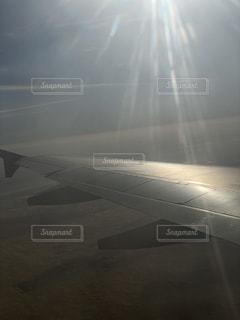 美しく照らされた翼の写真・画像素材[2865642]