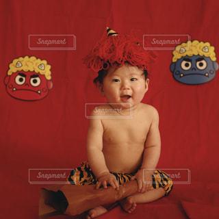イベント,赤ちゃん,鬼,男の子,ベビー,節分,豆まき,育児,行事,0歳児