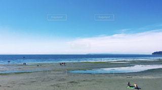 自然,海,空,海外,ビーチ,綺麗,青,水,水平線,旅行,留学,カナダ,バンクーバー,水平