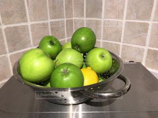 緑,フルーツ,果物,皿,イギリス,デザイン,新鮮,青リンゴ,リンゴ,グラニースミス