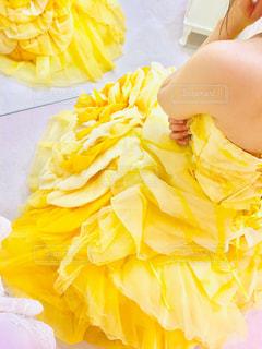 黄色,オレンジ,ドレス,レモン,幸せ,イエロー,橙,カラードレス,ウェディング,お色直し,試着,檸檬