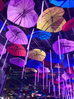 夜,傘,ハート,ライトアップ,ロマンチック,たくさん,ハウステンボス