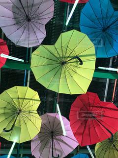夜,傘,カラフル,ハート,ロマンチック,梅雨