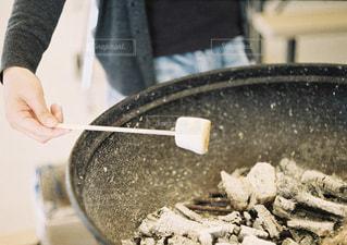 人の鍋に切断の写真・画像素材[1203566]