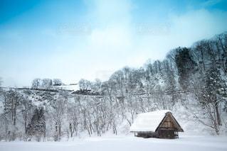 雪に覆われた家の写真・画像素材[1658676]