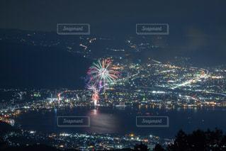 夜の街の眺めの写真・画像素材[2734327]