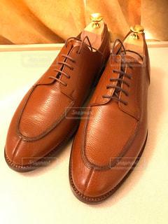 お気にの革靴の写真・画像素材[2637970]