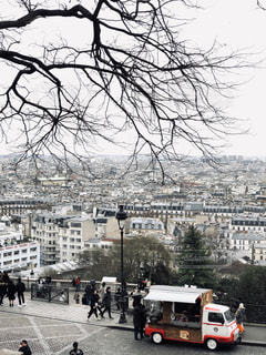 真冬のパリの写真・画像素材[1812170]