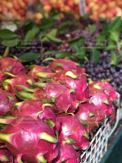 果物,マーケット,新鮮,ドラゴンフルーツ,フレッシュ,散策,フレッシュフルーツ,タイの市場,タイの風景