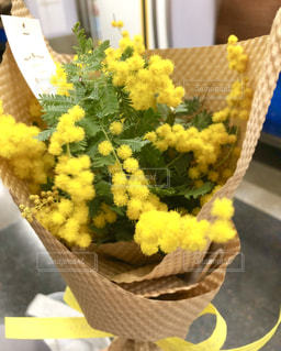 花,春,花束,黄色,プレゼント,ブーケ,贈り物,お祝い,ミモザ